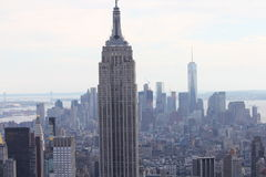 De mening van New York Manhattan stock afbeeldingen
