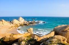 De mening van Nice aan de oceaan Stock Fotografie