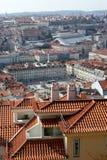 De mening van Nice aan het centrum van de stad van Lissabon Stock Afbeeldingen