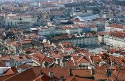 De mening van Nice aan het centrum van de stad van Lissabon Royalty-vrije Stock Afbeelding