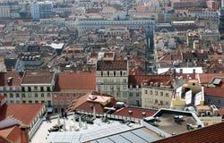 De mening van Nice aan het centrum van de stad van Lissabon Stock Fotografie