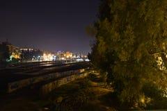 De mening van Nice bij nacht royalty-vrije stock foto's