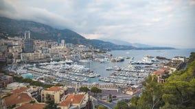 De mening van Nice over mooie stad van Monaco Stock Foto's