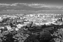 De mening van Nice over Poolse stad. Stock Foto's