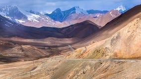 De mening van Nice van Pamir in Tadzjikistan stock afbeelding