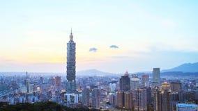 De mening van Nice van de Stad van Taipeh, Taiwan stock footage