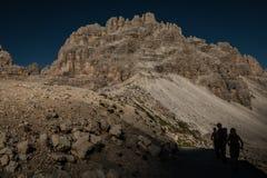 De mening van Nice van Dolomietbergen in Italië Royalty-vrije Stock Fotografie
