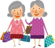 De mening van oude vrouwen Stock Foto's