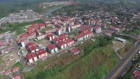 De mening van Panama van dubbelpuntstad stock footage