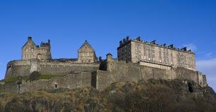 De mening van Panaromic van het Kasteel van Edinburgh, Schotland stock foto