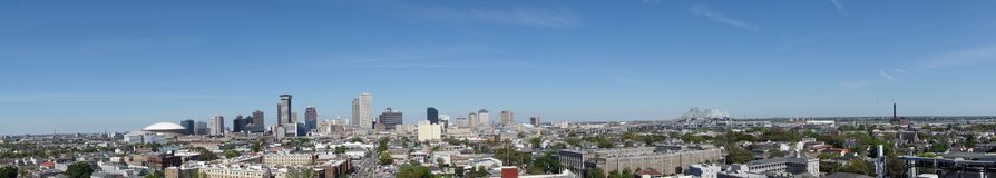 De mening van panoramanew orleans stock foto