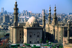 De mening van Panormaic van IL Kaïro, Egypte. Royalty-vrije Stock Foto's