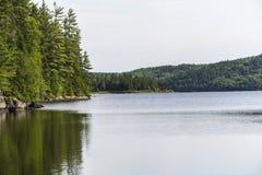 De mening van Parcmaurice van een meer, Kanada Royalty-vrije Stock Foto