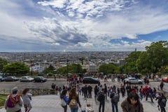 De Mening van Parijs van Sacre Coeur royalty-vrije stock foto