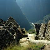 De mening van Picchu Urubamba van Machu Stock Foto's
