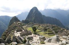 De mening van Picchu van Machu Stock Fotografie