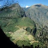 De mening van Picchu van Machu Royalty-vrije Stock Foto