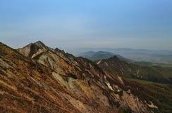De mening van Piekmisen, zet Daisen in Tottori-Prefectuur, Japan op stock foto