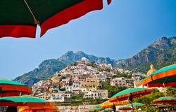 De mening van Positano royalty-vrije stock afbeelding