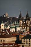 De mening van Praag Stock Foto