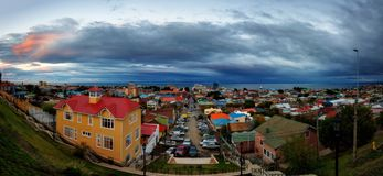 De Mening van Punta Arenas Royalty-vrije Stock Foto