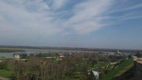 De mening van de rivierboten van Belgrado Royalty-vrije Stock Afbeelding