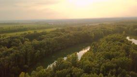 De mening van rivierdonau stock video