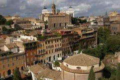De mening van Rome van de oude stad Royalty-vrije Stock Foto's