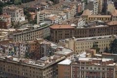 De mening van Rooftob van in Rome, Italië. Stock Fotografie