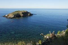 De mening van rousse eiland Ile en mediterraneen overzees Royalty-vrije Stock Fotografie