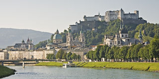 De mening van Salzburg Royalty-vrije Stock Foto's