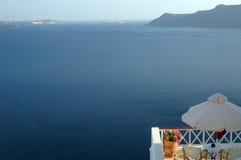 De mening van Santorini Royalty-vrije Stock Foto
