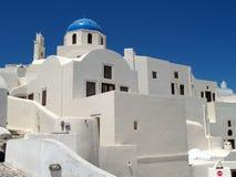 De mening van Santorini Royalty-vrije Stock Fotografie
