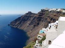 De mening van Santorini Royalty-vrije Stock Afbeeldingen