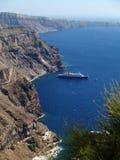 De mening van Santorini Royalty-vrije Stock Foto's