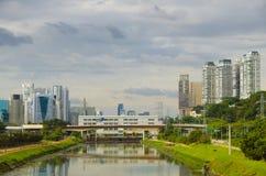 De mening van Sao Paulo royalty-vrije stock afbeelding