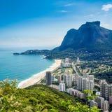 De mening van Saoconrado, Rio de Janeiro Royalty-vrije Stock Afbeeldingen