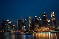 De mening van Singapore Royalty-vrije Stock Afbeelding