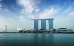 De mening van Singapore van de rivier stock afbeelding
