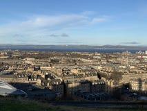 De mening van stad in Edinburgh Schotland stock foto