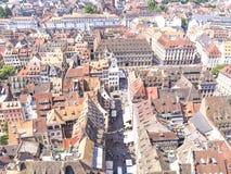 De mening van stad vanaf de bovenkant royalty-vrije stock afbeelding