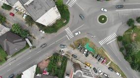 De mening van de stadsstraat van hierboven stock video