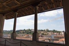 De mening van Terras van Saturn in Palazzo Vecchio, Florence, Italië royalty-vrije stock afbeeldingen