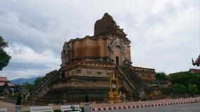 De mening van de tijdtijdspanne van Wat Chedi Luang, Thailand stock video