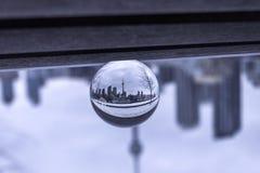 De mening van Toronto door kristallen bol stock fotografie