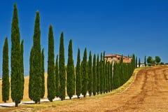 De mening van Toscanië royalty-vrije stock afbeeldingen