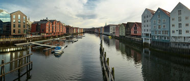 De mening van Trondheim Royalty-vrije Stock Foto