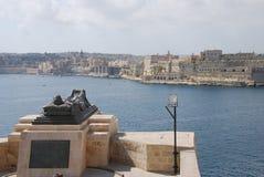 De Mening van Valletta Royalty-vrije Stock Foto's