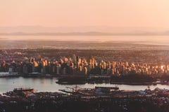 De mening van Vancouver van Hoenberg in Noord-Vancouver, BC, Canada stock foto's