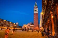 De mening van Venetië over het vierkant van San Marco, Venetië, Veneto, Italië stock afbeelding
